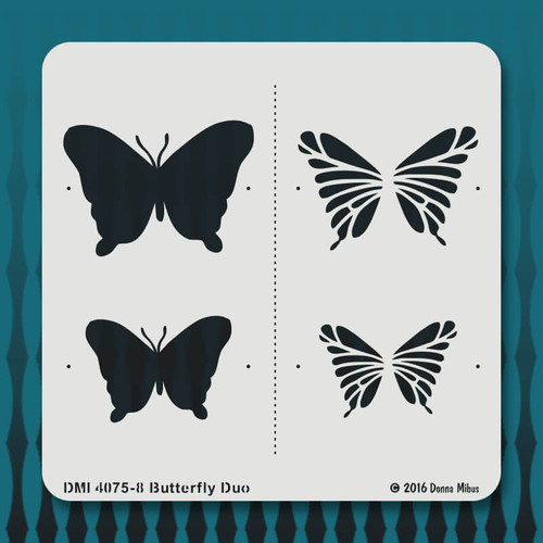 4075-8 Butterfly Duo stencil