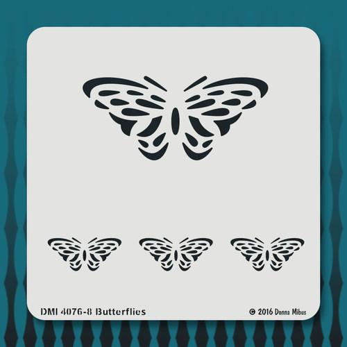 4076-8 Butterflies stencil