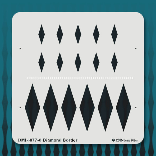 4077 Diamond Border stencil