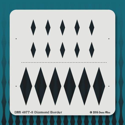 4077 Diamond Border stencil