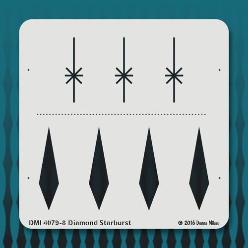 4079 Diamond Starburst stencil