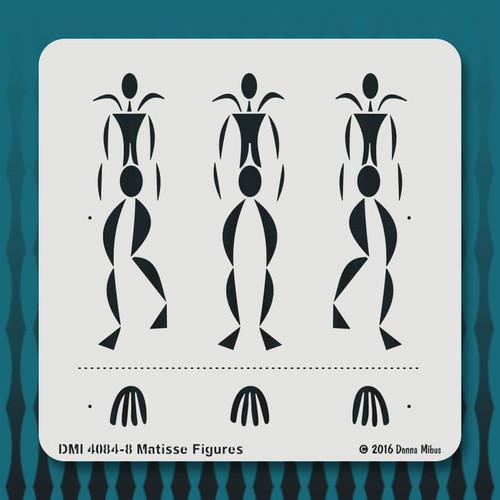 4084 Matisse Figures stencil