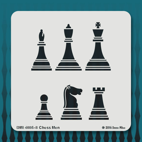 4086 Chess Man stencil