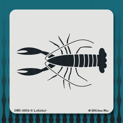 4089 Lobster stencil
