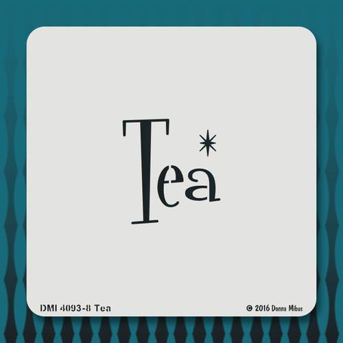 4093 Tea stencil