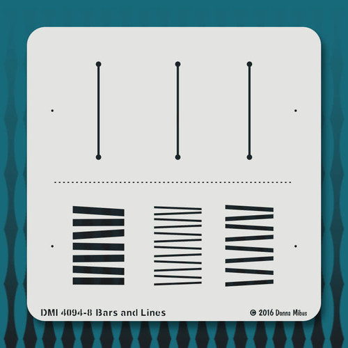 4094 Bars and Lines stencil