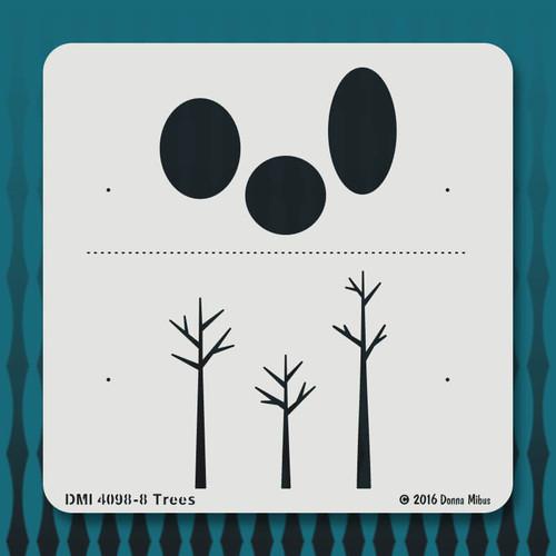 4098 Trees stencil