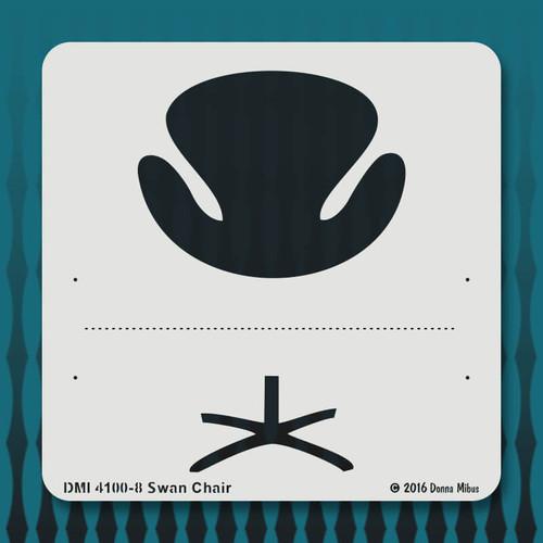 4100 Swan Chair stencil