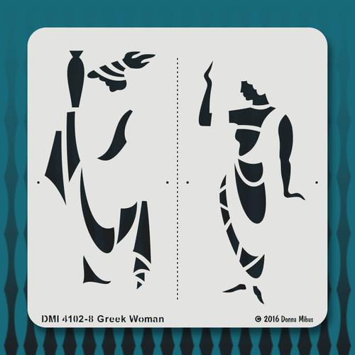 4102 Greek Woman stencil