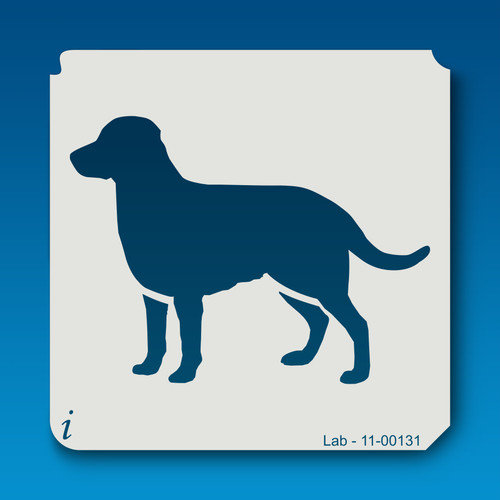 11-00131 lab dog stencil