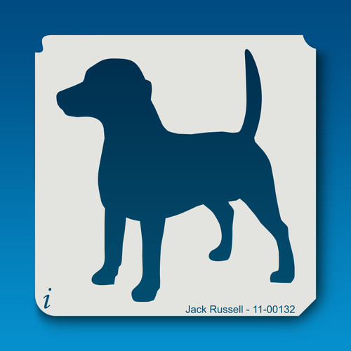 11-00132 jack russell dog stencil