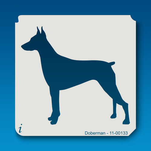 11-00133 doberman dog stencil