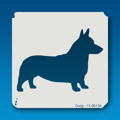 11-00134 corgi dog stencil