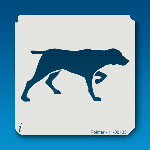 11-00135 pointer dog stencil