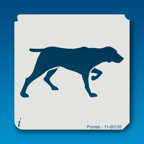 11-00135 pointer dog stencil