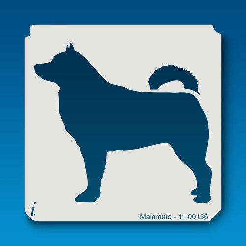 11-00136 malamute dog stencil