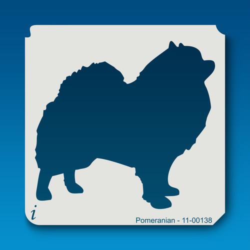 11-00138 pomeranian dog stencil
