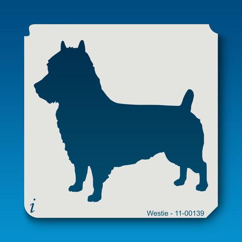 11-00139 westie dog stencil