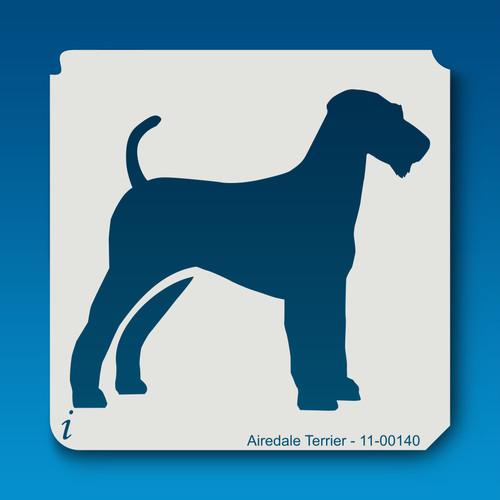 11-00140 airedale terrier dog stencil