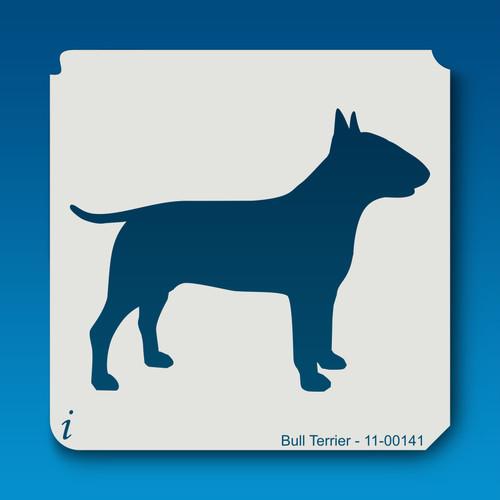 11-00141 bull terrier dog stencil