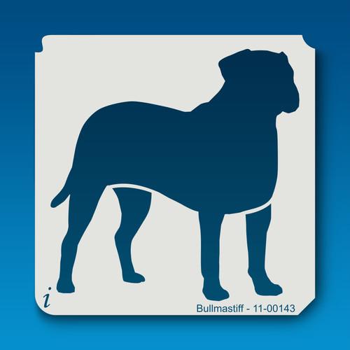 11-00143 bullmastiff dog stencil