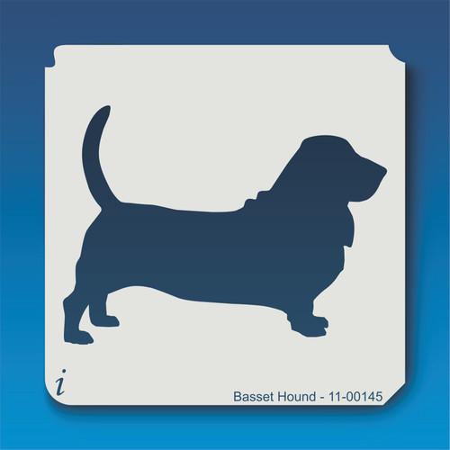 11-00145 basset hound dog stencil