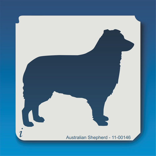 11-00146 australian shepherd dog stencil