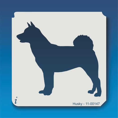 11-00147 husky dog stencil