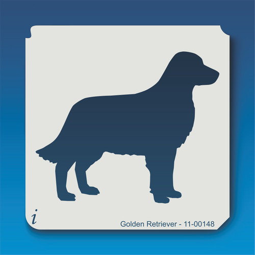 11-00148 golden retriever dog stencil