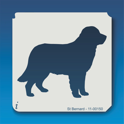 11-00150 st. bernard dog stencil