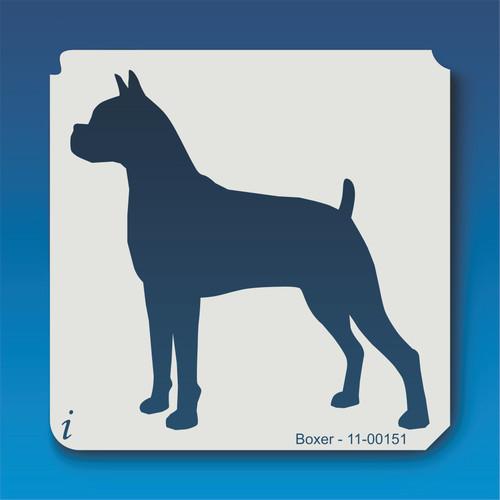 11-00151 boxer dog stencil