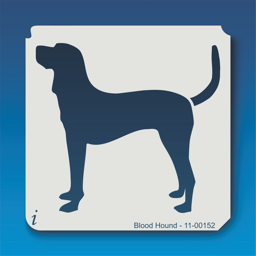 11-00152 blood hound dog stencil