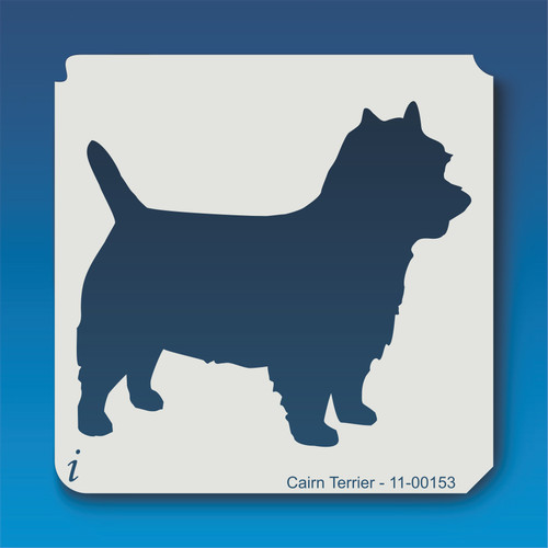11-00153 cairn terrier dog stencil