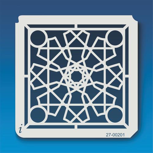 27-00201 Geometric Mandala 3 Stencil