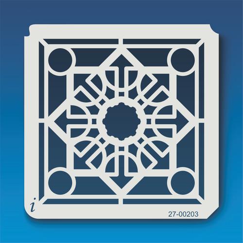 27-00203 Geometric Mandala 4 Stencil