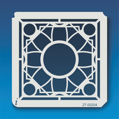 27-00204 Geometric Mandala 5 Stencil