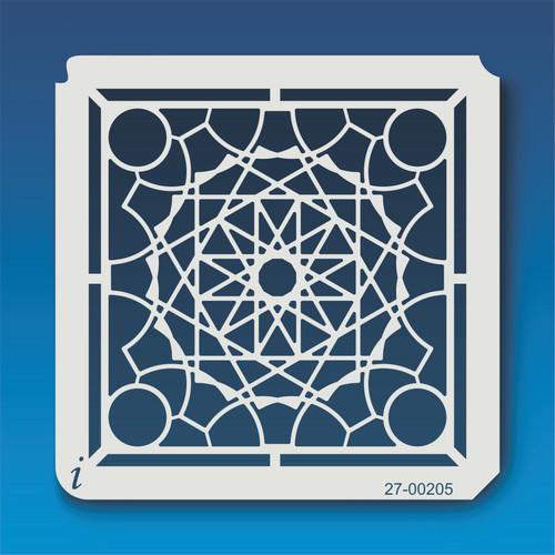 27-00205 Geometric Mandala 6 Stencil