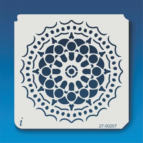 27-00207 Geometric Mandala 8 Stencil