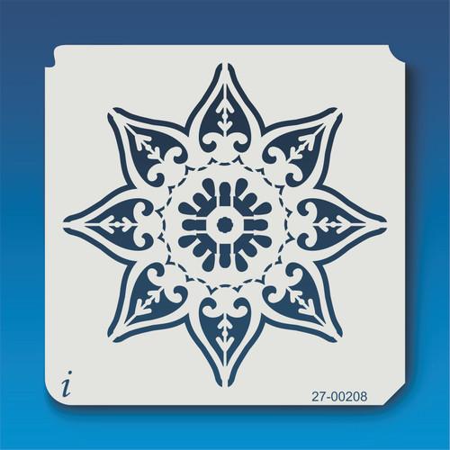 27-00208 Geometric Mandala 9 Stencil