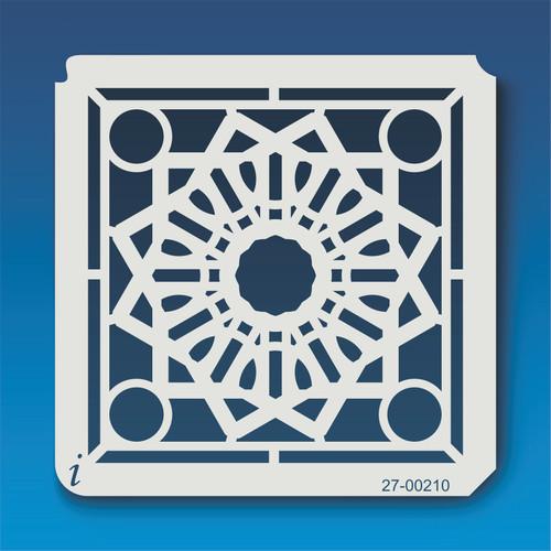 27-00210 Geometric Mandala 10 Stencil