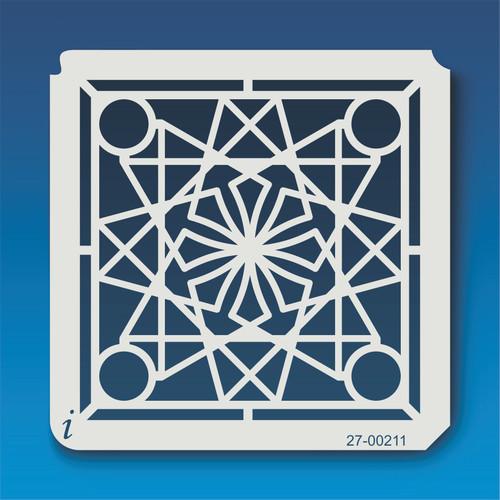 27-00211 Geometric Mandala 11 Stencil
