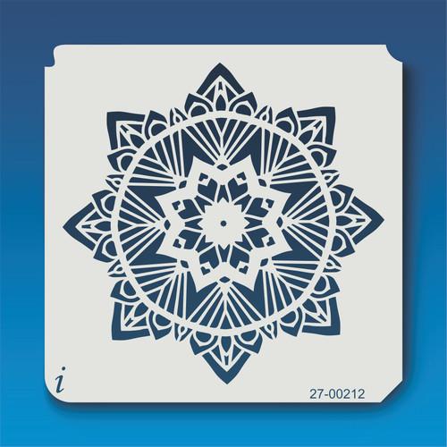 27-00212 Geometric Mandala 12 Stencil