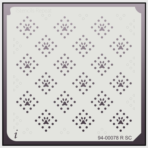 94-00078 RSC diamond paw repeat stencil