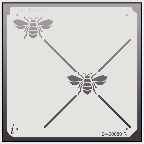 94-00080 R bee lattice repeat stencil