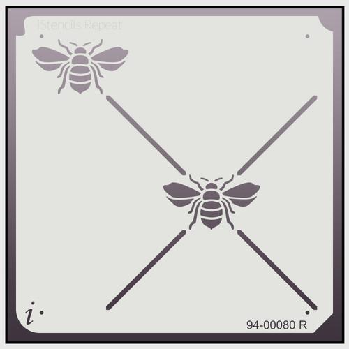 94-00080 R bee lattice repeat stencil