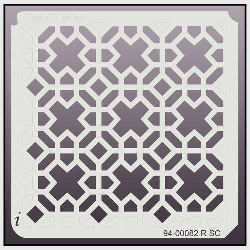 94-00082 R SC Ex's and Oh's Repeat Stencil