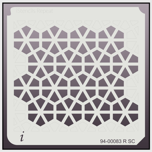 94-00083 R SC Hexagon Pinwheel Repeat Stencil