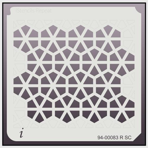 94-00083 R SC Hexagon Pinwheel Repeat Stencil