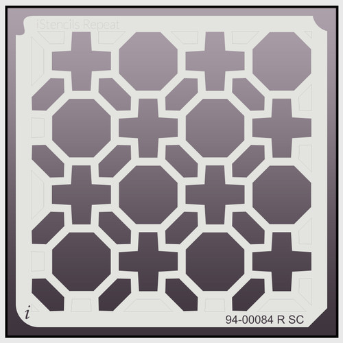 94-00084 R SC Geometric Repeat Stencil