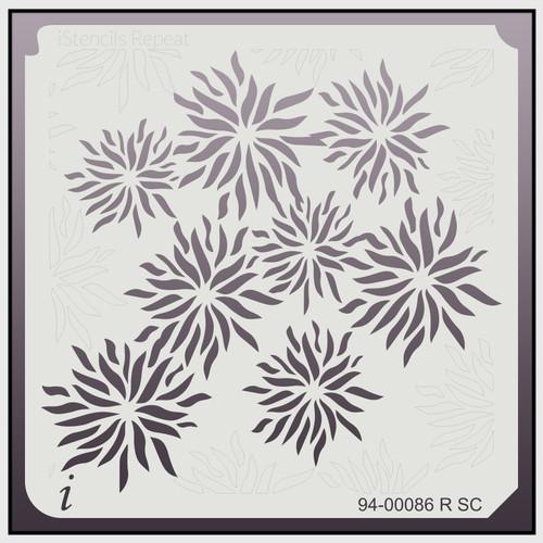 94-00086 R SC Floral Repeat Stencil